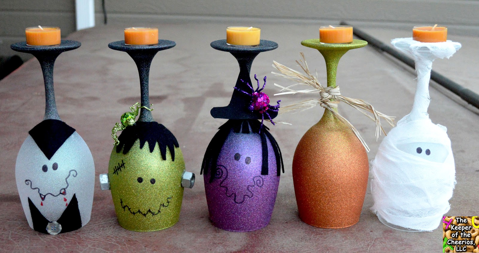 Halloween wine glasses candle holders for What paint do you use to paint wine glasses