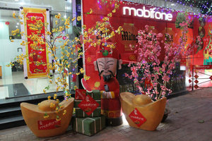 Mobiphone shop - Decoration for the new year
