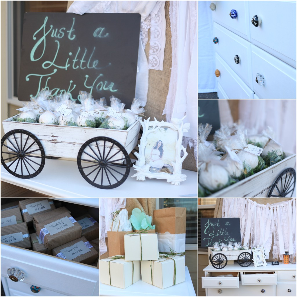 vintage pretty rustic outdoor baby shower