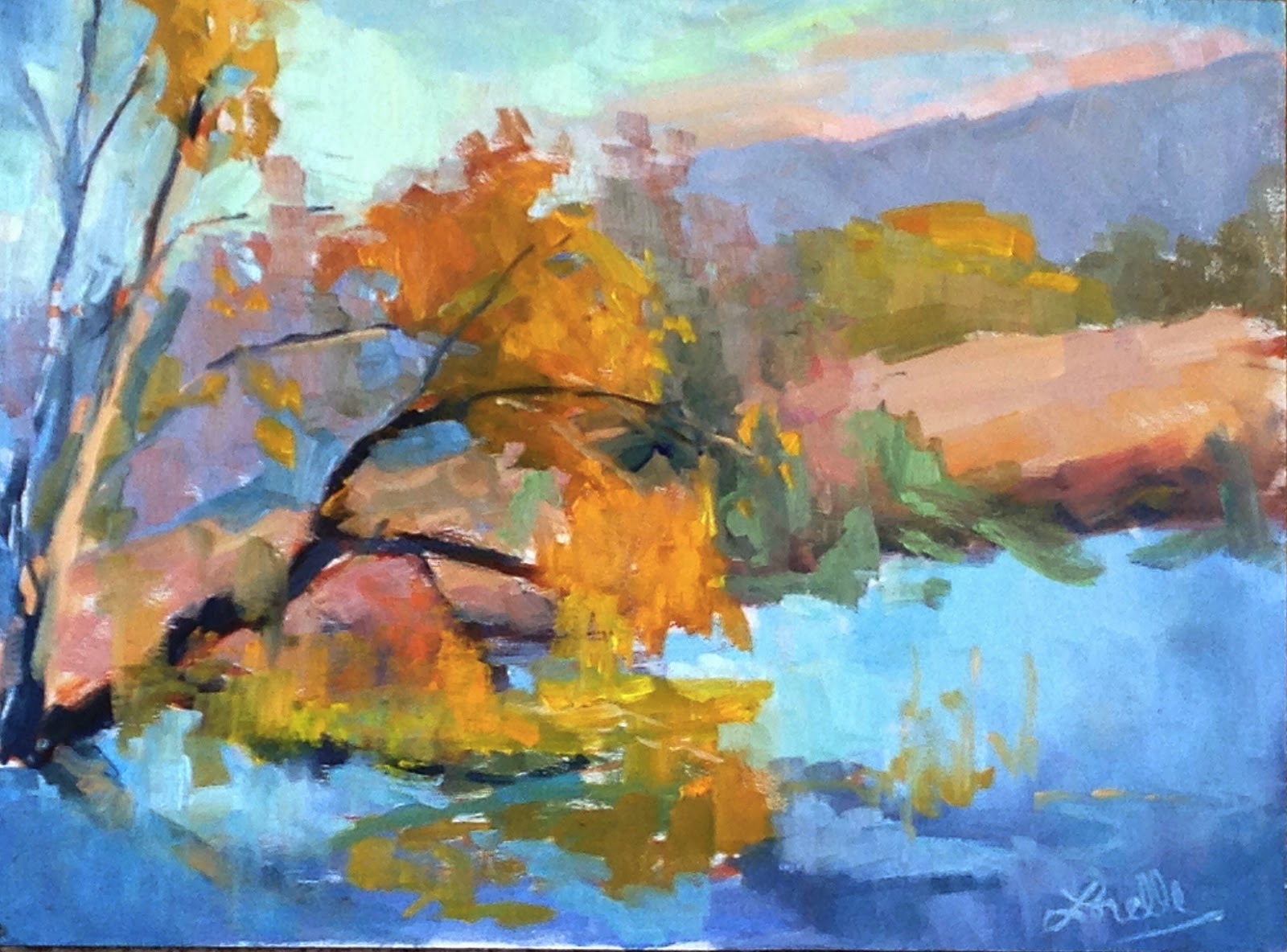 "9"" x 12"" Plein Air painting, Oil on Panel"