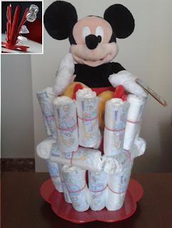 Fuente pañales Mickey