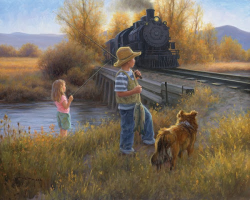 Fishin' at the Bridge by Robert Duncan