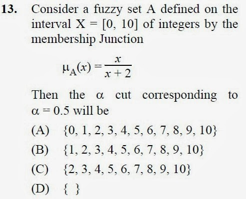 2012 December UGC NET in Computer Science and Applications, Paper III, Question 13