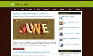 Mixx Me Blogger Template