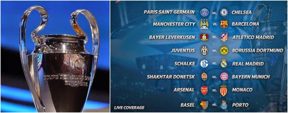 Jadwal Babak 16 Besar/Perdelapan Final Liga Champions 2014-2015