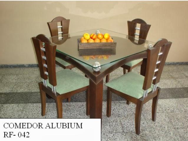 Comedor 4 puestos madera