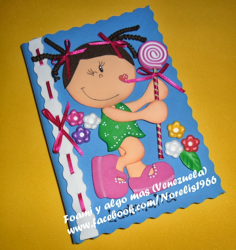 Foami y algo mas...: Cuadernos forrados en Foami