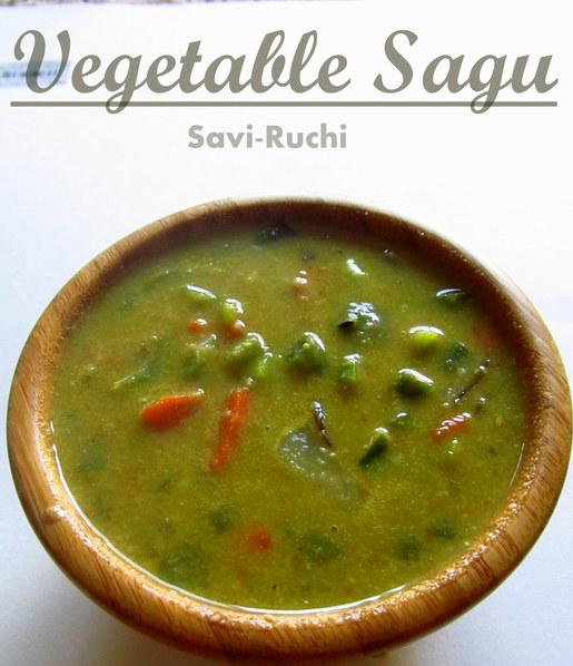 Mixed Veg Korma | Vegetable Kurma Recipe : Karnataka Style Mixed Veg Sagu Recipe