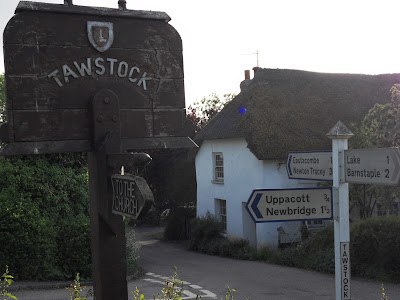 Tawstock village sign North Devon