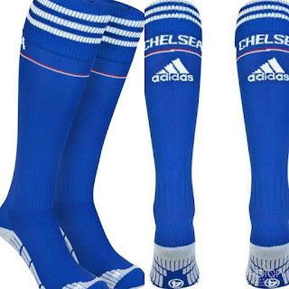 gambar desain terbaru kaos kaki chelsea foto photo kamera Kaos kaki Chelsea home terbaru musim 2015/2016 di enkosa sport