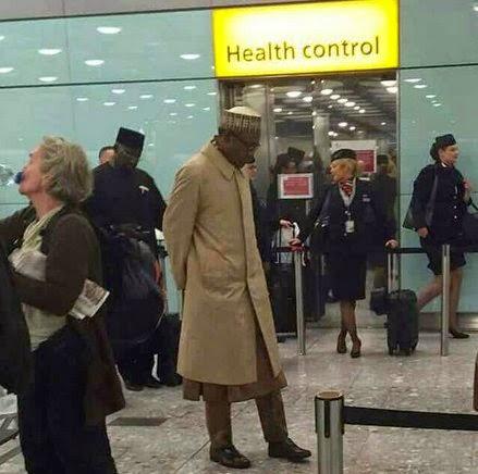 PDP circulates alleged PHOTO of Buhari in UK