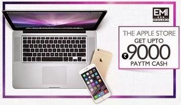 Apple iPhones, iPads & MacBooks Extra upto Rs. 9000 Cashback – PayTm