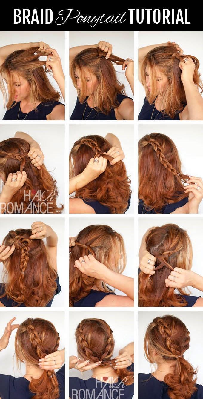 Варианты причесок на каждый день волос средней длины