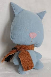 котик, шарфик текстильный