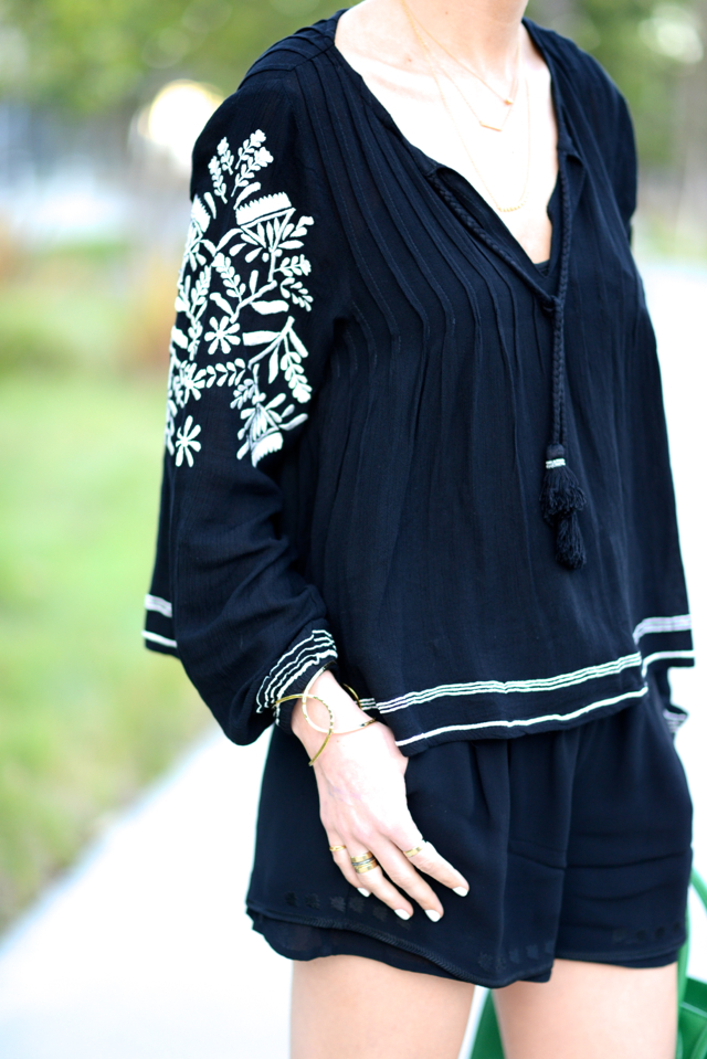 black embroidered blouse from revolve on M Loves M @marmar