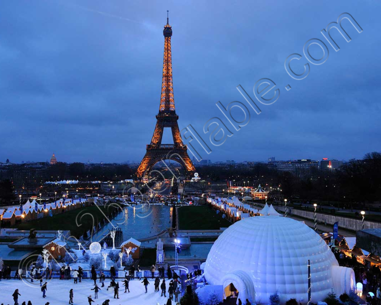 igloo gonflable Paris