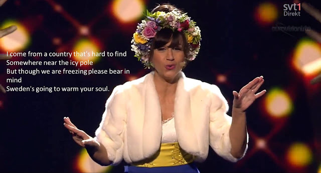 Petra Mede Eurovision 2013 Sweden Swedish Smorgasbord Interval Song Contest Funny