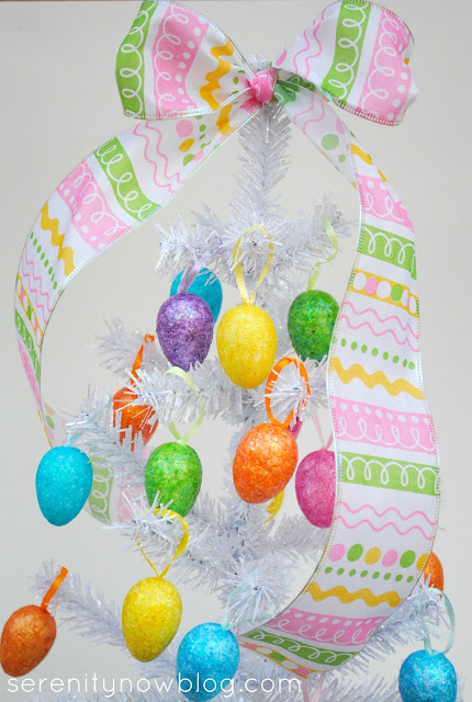 Glitter Easter Egg Tree, from Serenity Now blog