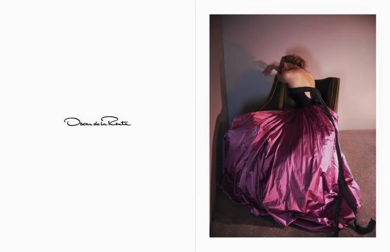 Carolyn Murphy in Oscar de la Renta Fall/Winter 2015 campaign (photography: David Sims, styling: Alex White, hair: Guido Palau, makeup: Diane Kendal) / best fashion ad campaigns fall/winter 2015 / via fashioned by love british fashion blog