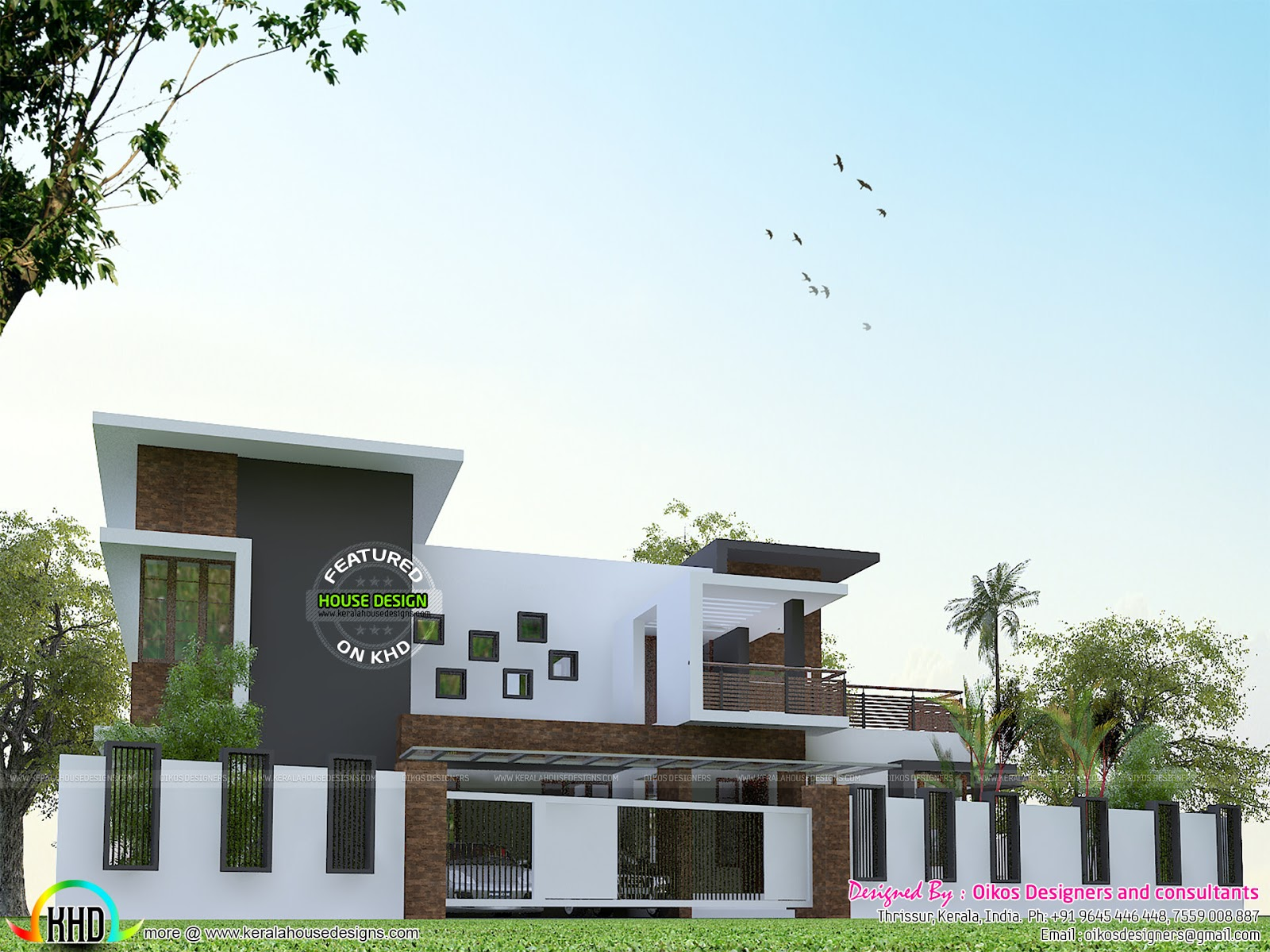 House Front Elevation With Gate : Elevation of house boundary wall in india joy studio