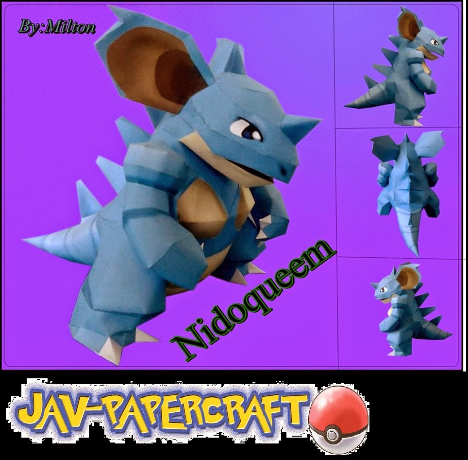 Pokemon Nidoqueen Papercraft