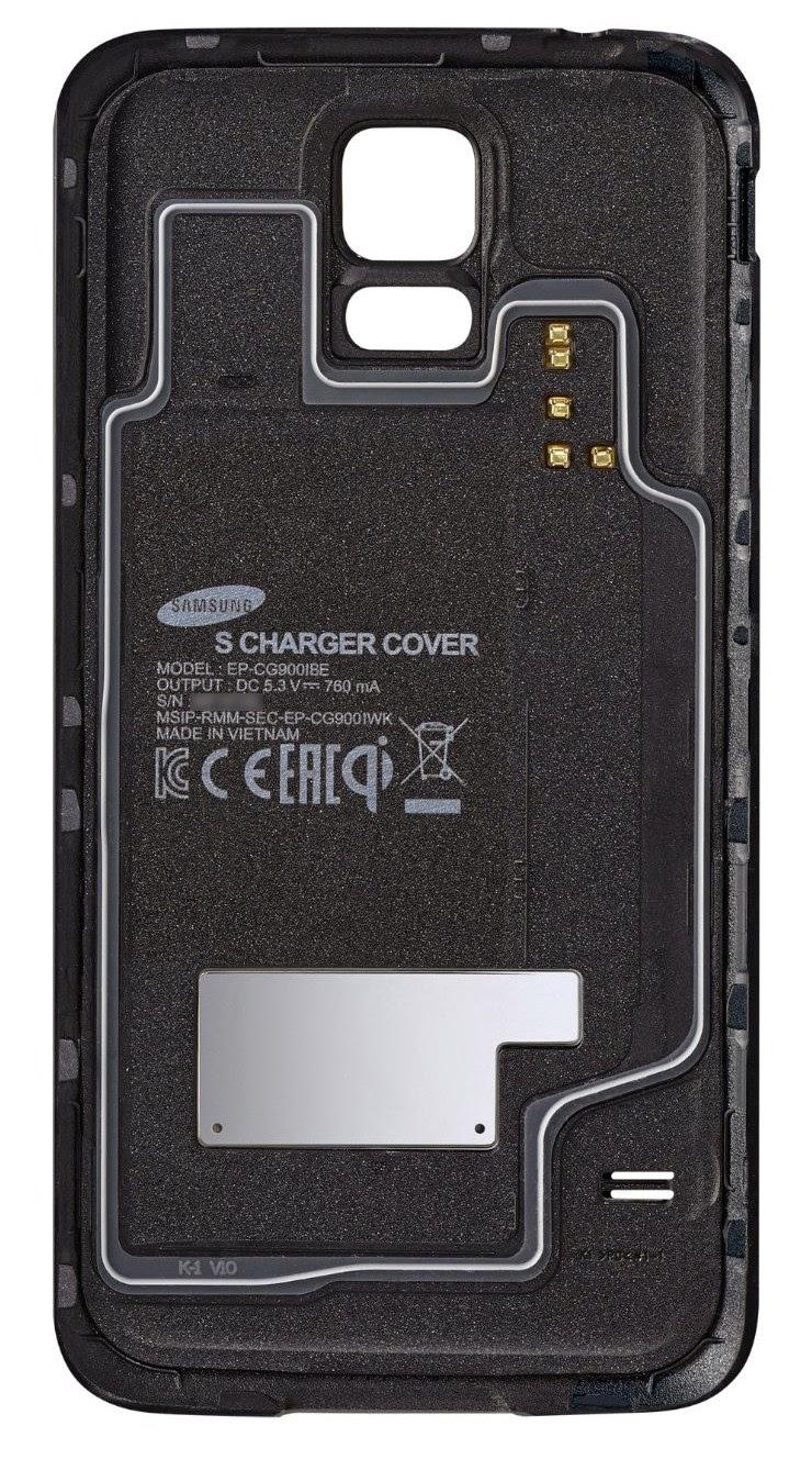 Klapka S Charger Cover z widocznymi stykami w prawym górnym rogu