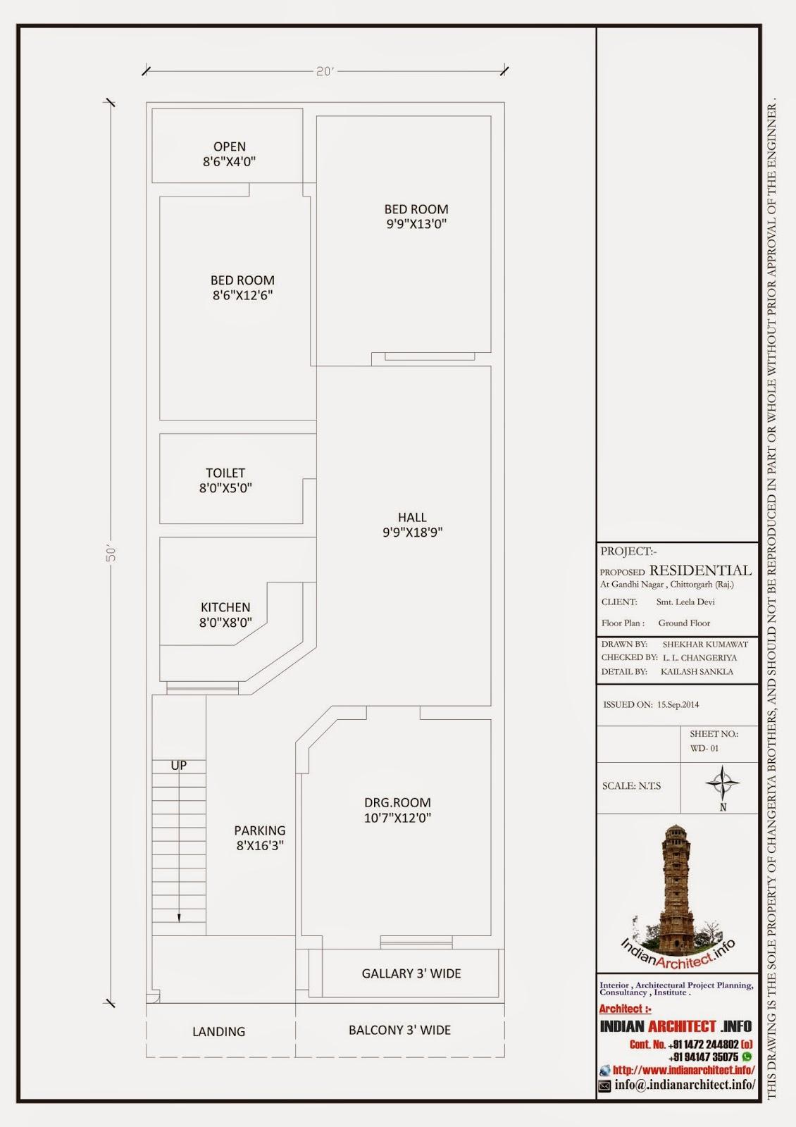 Design house 20x50 - Iii