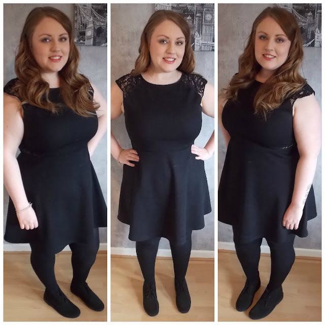Primark Black Skater Dress, Clarks Desert Boot