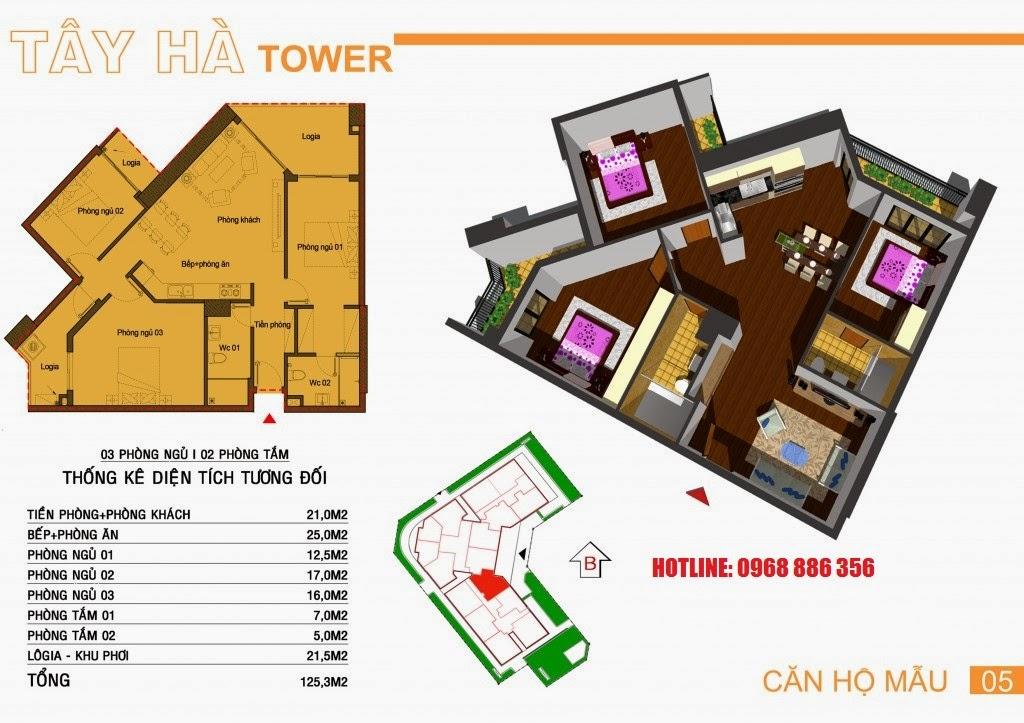 Căn hộ số 5 chung cư Tây Hà Tower
