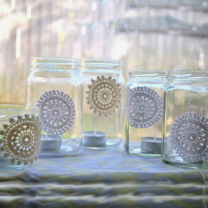 spring candle jars