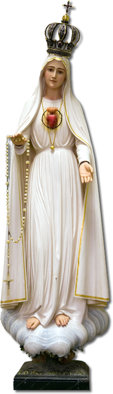 Virgen en Fátima.