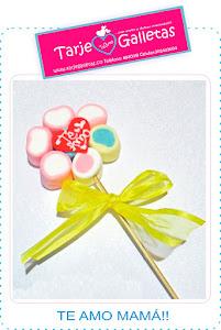 Flores en masmelos para las mamás!