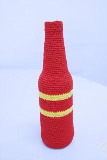 Garrafa Reciclada com Crochê