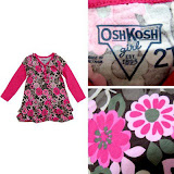 Oshkosh Longsleeve Dress-Top, 2T, 4T, RM33