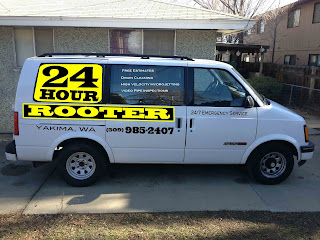 Yakima plumbing van for 24 Hour Rooter and Septic