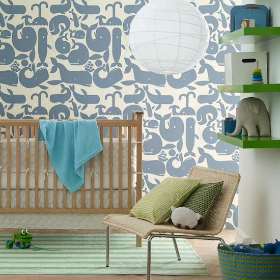 gallery for gt modern baby room wallpaper