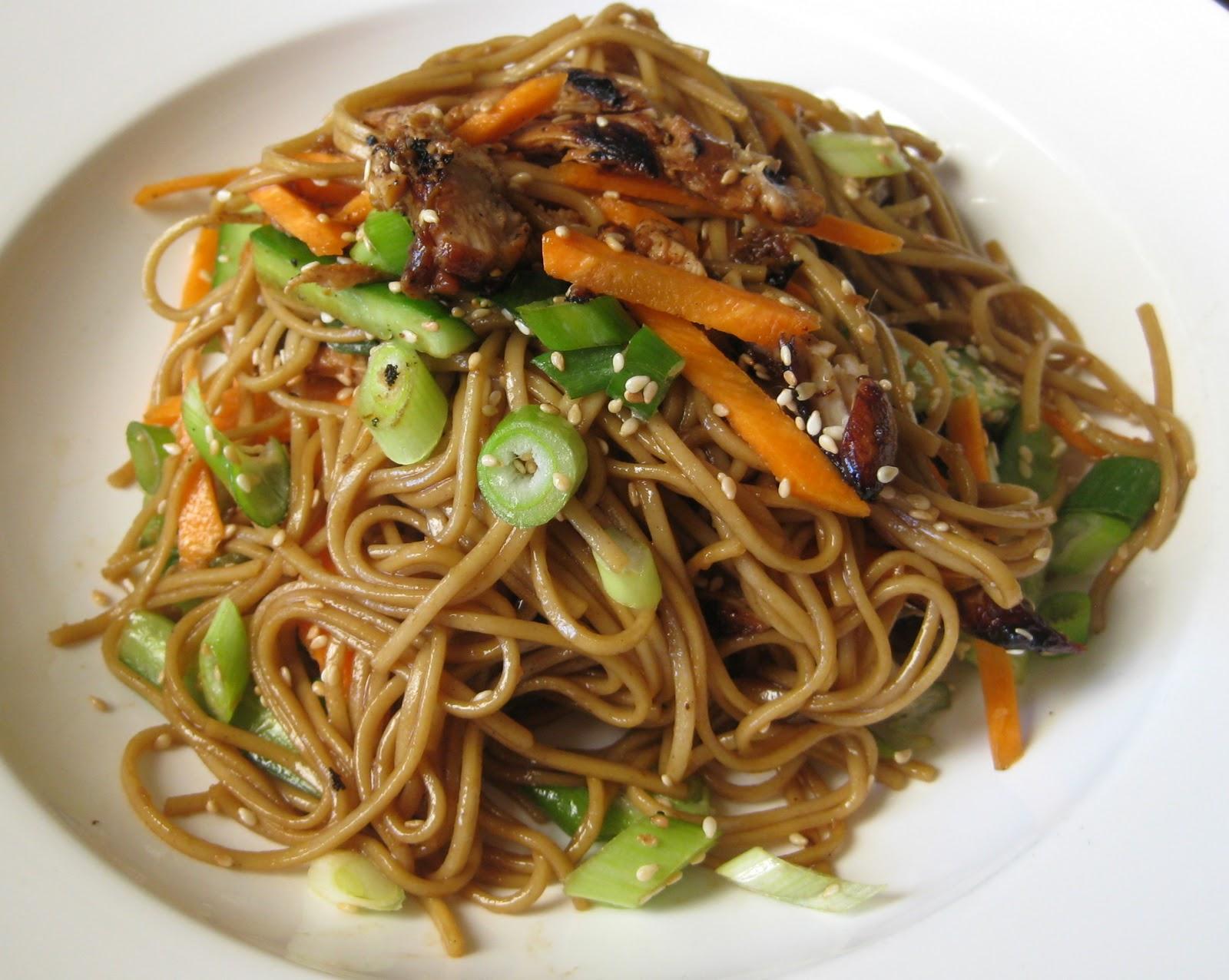 soba and asian greens salad asian noodle salad soba noodle salad