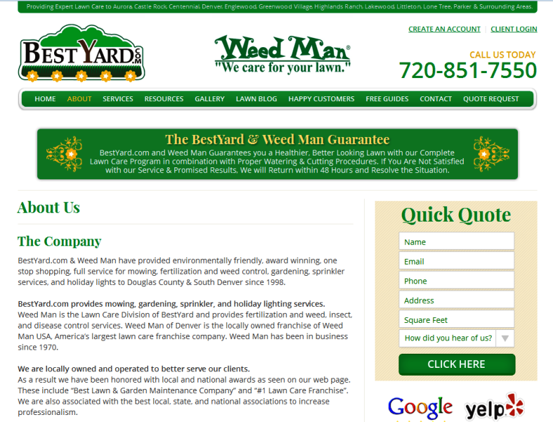 trusted lawn care experts in Colorado