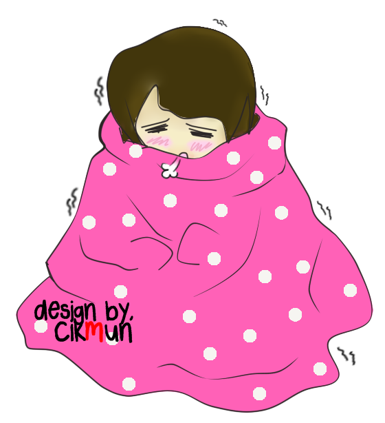 doodle, demam, sakit badan, sejuk, sakit kepala, sakit sendi, nak balik,