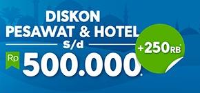 Diskon Tiket Pesawat & Hotel