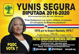Yunis Segura, tu Segura Diputada para Cir. #2 de Ultramar. Vota 7!