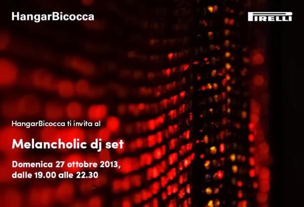 The melancholic dj set, colonna sonora creata dal vivo in Hangar Bicocca domenica 27 ottobre
