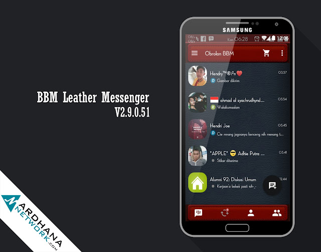 BBM Leather Messenger
