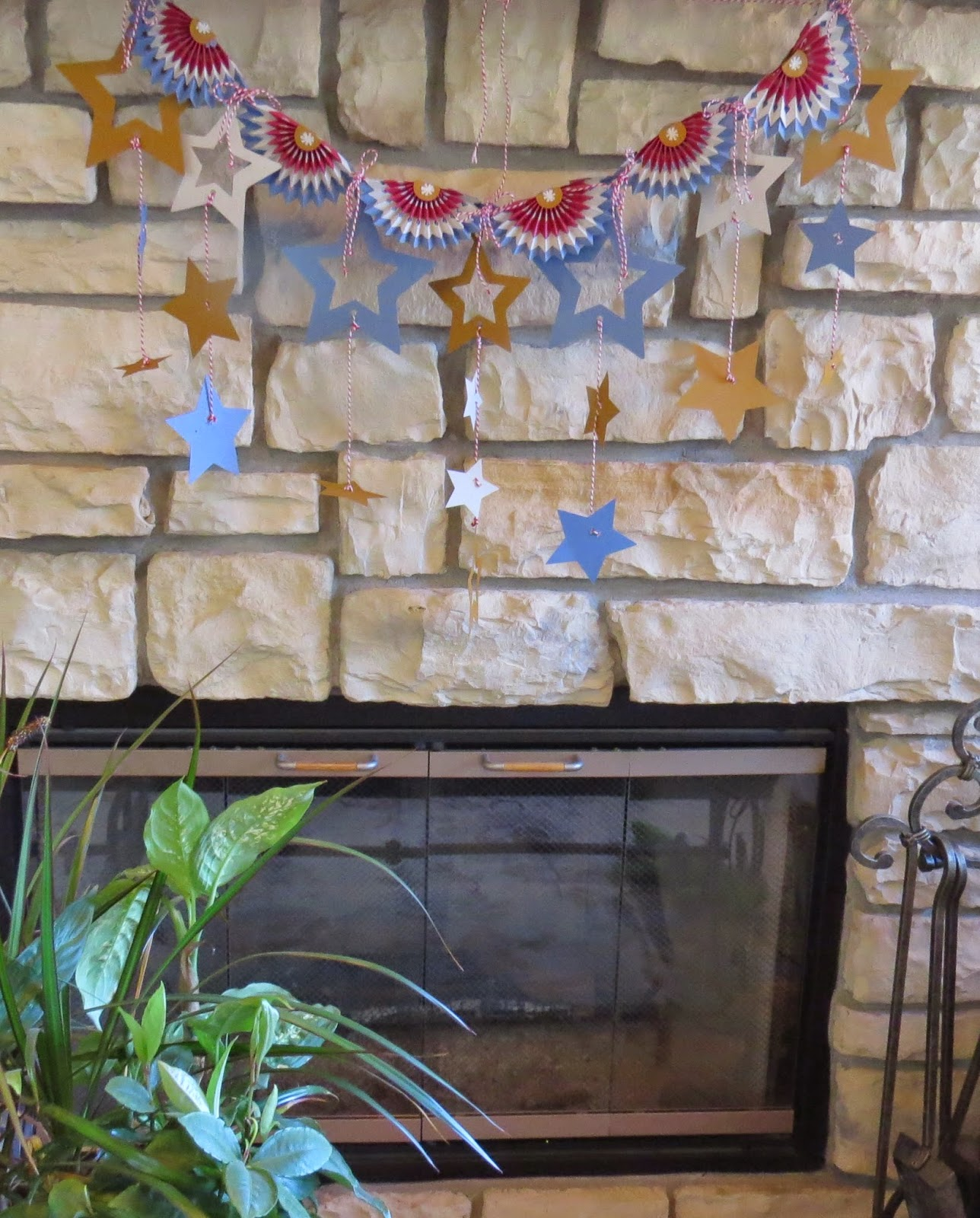 Gold Stars, Red, White and Blue, Patriotic Banner