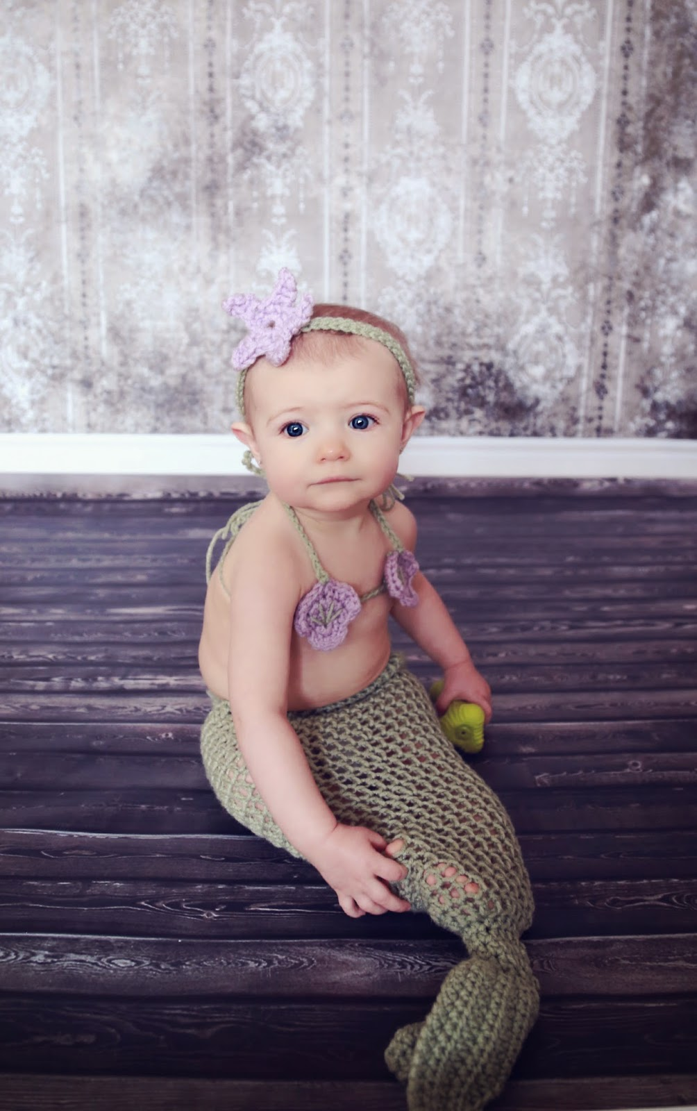 Crochet Mermaid Infant Outfit