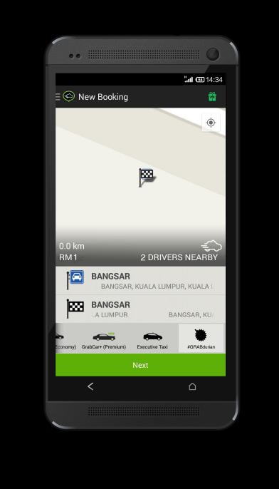 Dapatkan Durian RM1 Dengan MyTeksi Apps