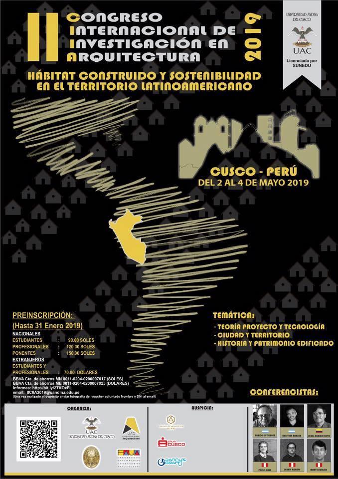 II CONGRESO INTERNACIONAL DE INVESTIGACIÓN EN ARQUITECTURA