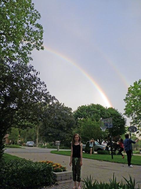 double, nature, 2 rainbows