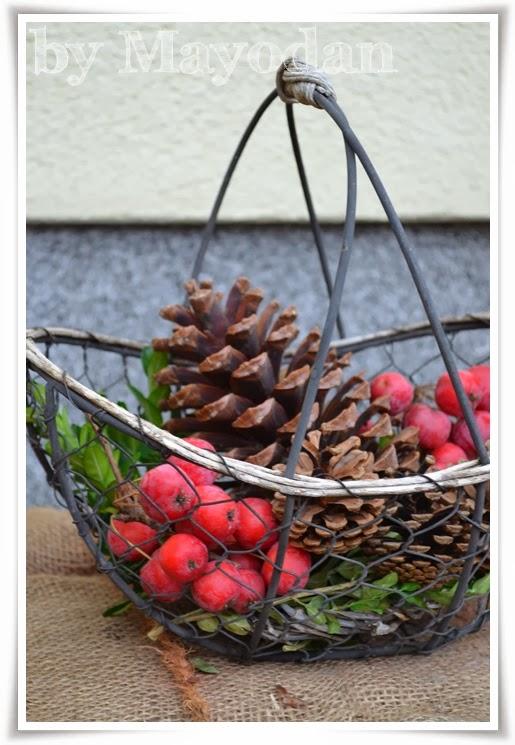 weihnachtlicher hauseingang mayodans home garden crafts. Black Bedroom Furniture Sets. Home Design Ideas