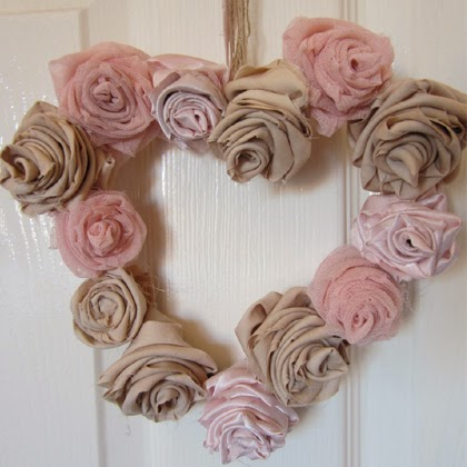 DIY Shabby Chic Flower Wreath